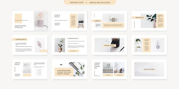 Modelo de slides de powerpoint de estilo minimalista