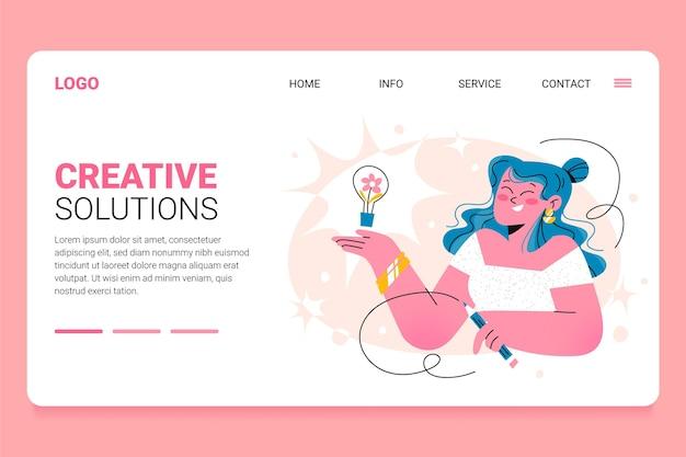 Modelo de soluções criativas da web