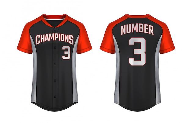 Modelo de t-shirt de beisebol