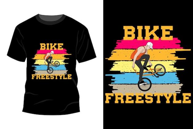 Modelo de t-shirt estilo livre para bicicleta com design retro vintage