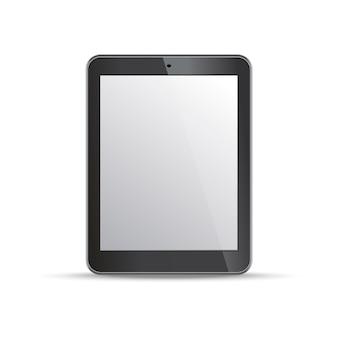 Modelo de tablet de tela vazia no fundo branco. elementos para infográfico, sites, movimento.