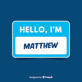Modelo de tag de nome moderno