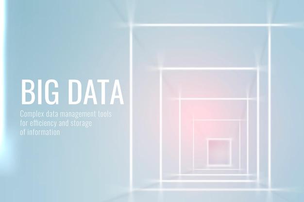 Modelo de tecnologia de big data em tom azul claro