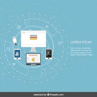 Modelo de tecnologia em design plano