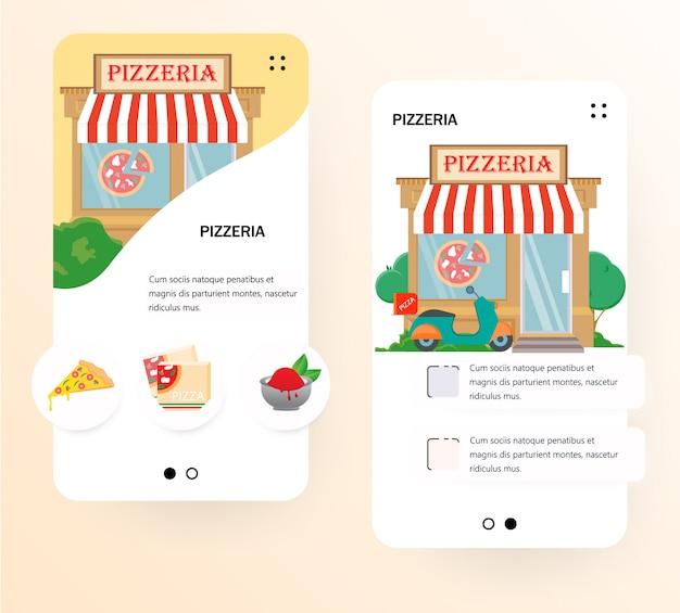 Modelo de tela de integração de pizzaria