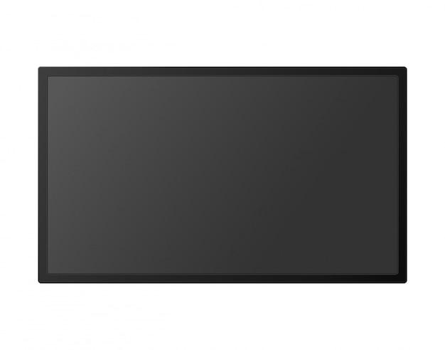 Modelo de tela de tv alta detalhado realista simulado acima.