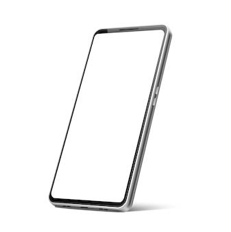 Modelo de telefone moderno em branco sem moldura realista