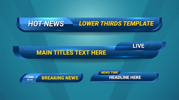 Modelo de terços inferiores de notícias