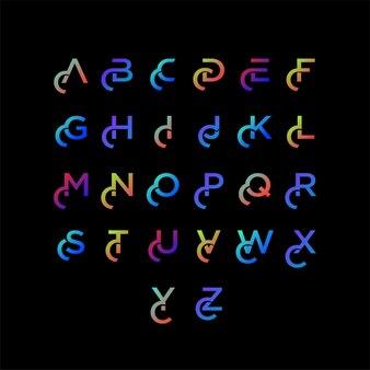 Modelo de tipografia gradiente colorido