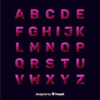 Modelo de tipografia gradiente monocromática