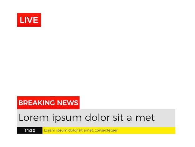 Modelo de título inferior de notícias