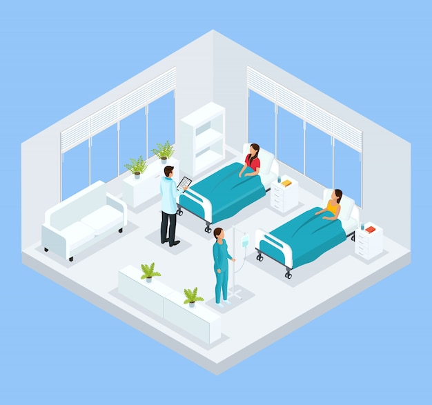 Modelo de tratamento médico isométrico