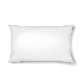 Modelo de travesseiro de travesseiro retangular em fundo branco