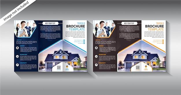 Modelo de três dobras brochura para negócios de promoção