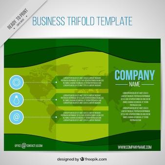 Modelo de três dobras negócios verdes