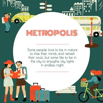 Modelo de turismo pela cidade para agências de marketing