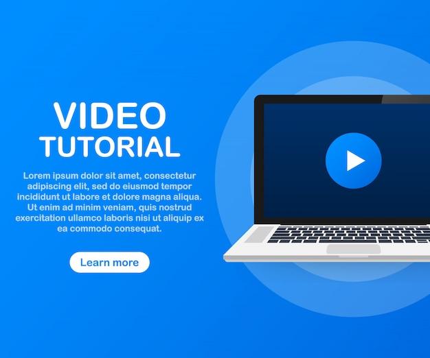 Modelo de tutoriais em vídeo