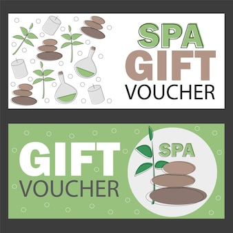 Modelo de vale-presente para spa, hotel resort, banner de ilustração vetorial - cartão de desconto
