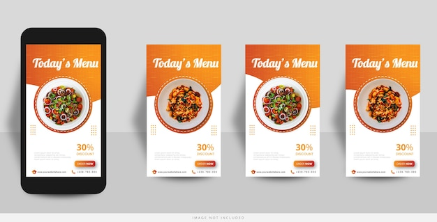 Modelo de venda de comida de história no instagram