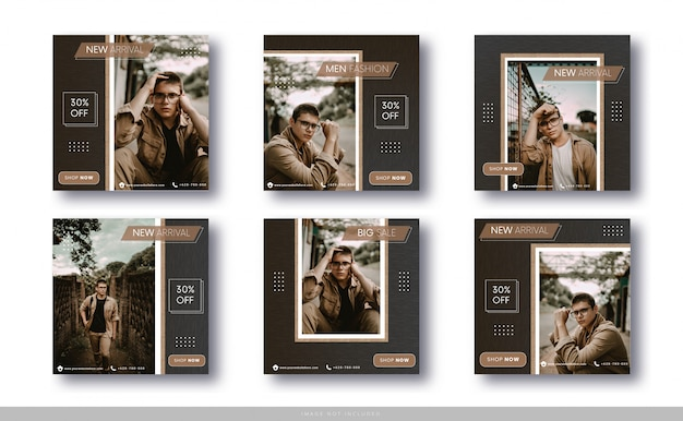 Modelo de venda de moda para postagem e banner de instagram em redes sociais