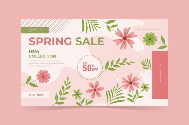 Modelo de venda de primavera de design plano