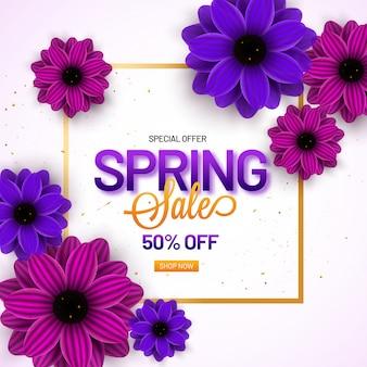 Modelo de venda de primavera