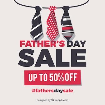 Modelo de venda do dia dos pais com laços diferentes