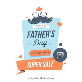 Modelo de venda do dia dos pais em estilo simples