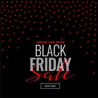 Modelo de venda - fundo preto pontos vermelhos de sexta-feira