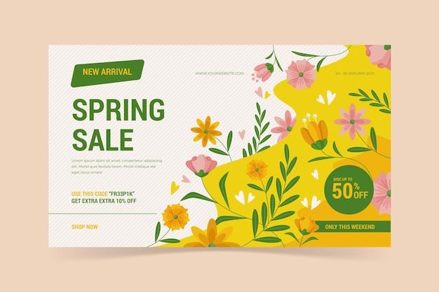 Modelo de venda plana de primavera