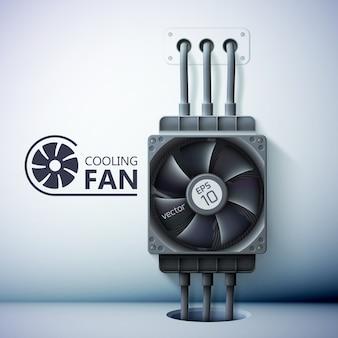 Modelo de ventilação de refrigeração