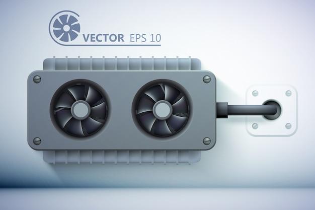 Modelo de ventilação realista