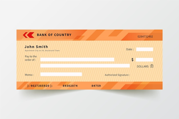 Modelo de verificação em branco de design plano