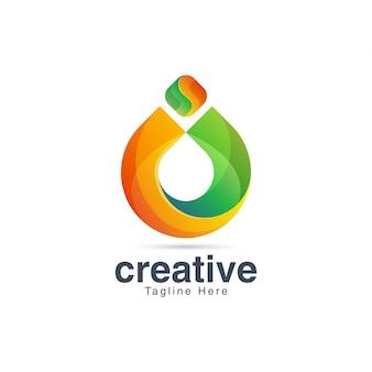 Modelo de vetor abstrato colorido letra o logotipo