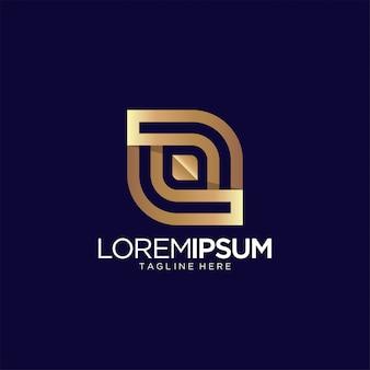 Modelo de vetor abstrato design de logotipo de luxo