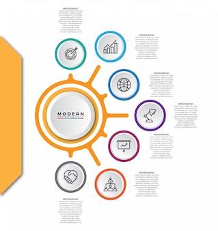 Modelo de vetor abstrato infográfico de negócios