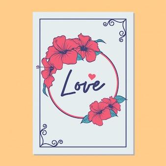 Modelo de vetor de amor