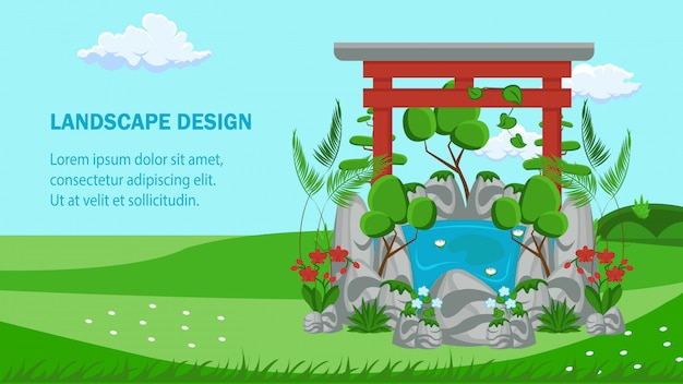 Modelo de vetor de banner plana de site de design