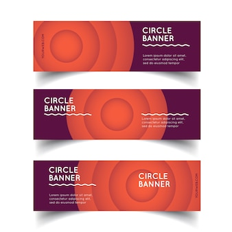 Modelo de vetor de banners de círculo
