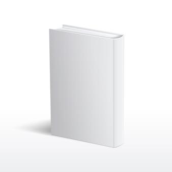 Modelo de vetor de capa de livro branco vertical em branco