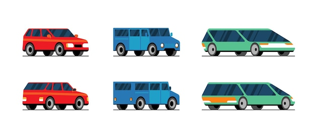 Modelo de vetor de carro em fundo branco. conceito de serviço de transporte de garagem automóvel veículo. ilustração de veículo plano