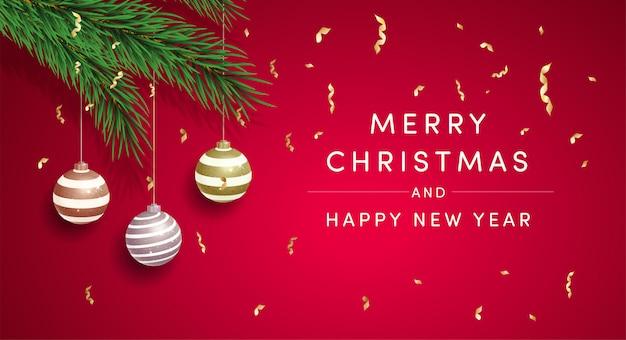 Modelo de vetor de cartão de feliz natal