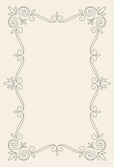 Modelo de vetor de cartão de ornamento vintage.