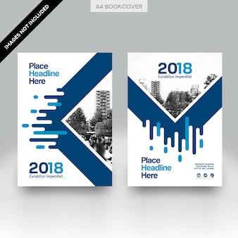 Modelo de vetor de design de capa de livro de negócios fundo cidade