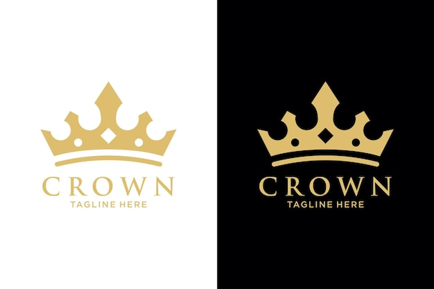 Modelo de vetor de design de logotipo abstrato printgeometric vintage creative crown. símbolo da coroa do logotipo do vintage royal king queen ícone do conceito do logotipo.