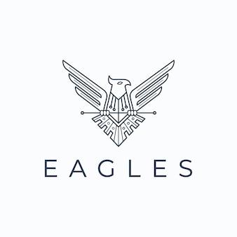 Modelo de vetor de design de logotipo de águia