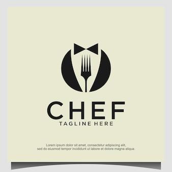 Modelo de vetor de design de logotipo de chef