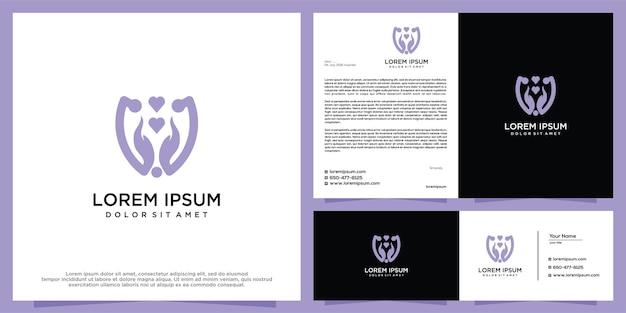 Modelo de vetor de design de logotipo de mão