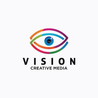 Modelo de vetor de design de logotipo de olho