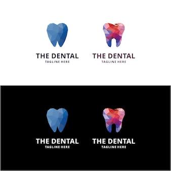 Modelo de vetor de design de logotipo de saúde abstrato moderno criativo colorido design de logotipo de clínica odontológica